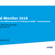 Bitkom Cloud Monitor 2016